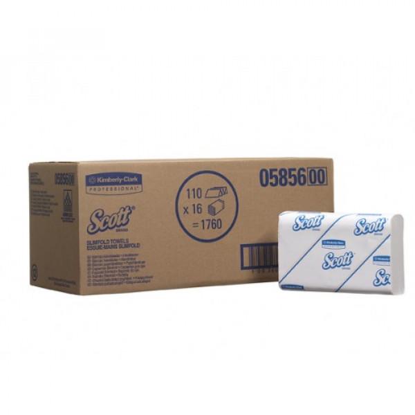 Полотенца для рук в пачках 5856 Scott Slimfold Kimberly-Clark