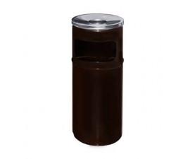 Урна-пепельница коричневый металл 27л. A-500 brown