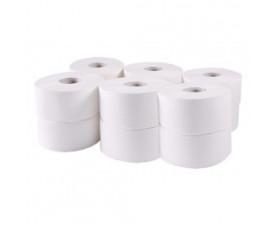 Туалетная бумага Джамбо целлюлозная белая 203020