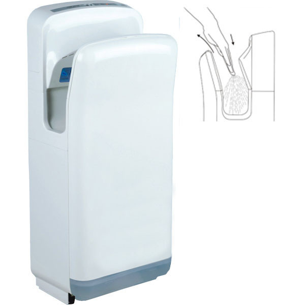 Электросушилка для рук ультра белый пластик ZG-828