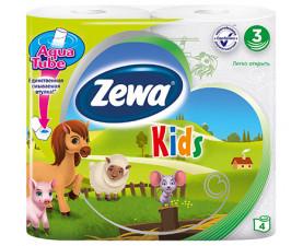 Туалетная бумага Zewa Kids 4 шт. в упаковке