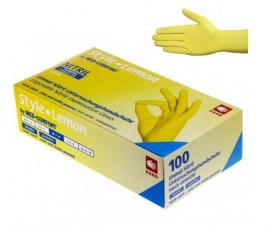 Перчатки нитриловые без пудры 100 шт. Ampri STYLE COLOR LEMON 01189-S