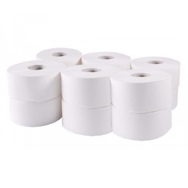 Туалетная бумага Джамбо целлюлозная белая В-202
