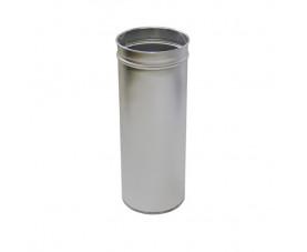 Корзина для мусора 24л цилиндрическая сатин M-824S