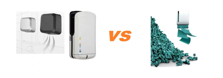 Что выбрать – электрические сушилки или бумажные полотенца?