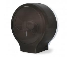 Диспенсер для туалетной бумаги джамбо чёрный прозрачный пластик JTA 109 N