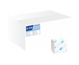 Туалетная бумага в пачках целлюлозная белая B308