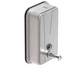 Дозатор для жидкого мыла нержавеющая сталь матовая 1л. 13421
