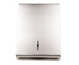 Диспенсер для бумажных полотенец z-сложения нержавеющая сталь матовая 13366